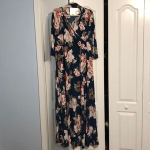 Pinkblush Size 3x floral maxi dress